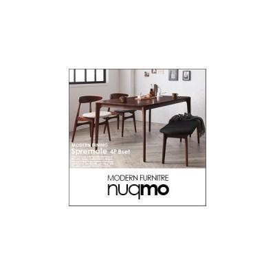 北欧デザイナーズダイニング Spremate シュプリメイト 4点Bセット(テーブル+チェアB×2+ベンチ)