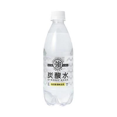 友桝飲料 強炭酸水 プレーン 天然水使用 STRONG SODA 500ml×24本