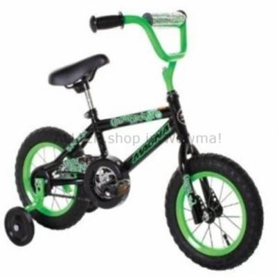 BMX Gravel Blaster Boy's Bike、12インチ屋外プレイキッズBMXコースターブレーキグリーン/ブラック