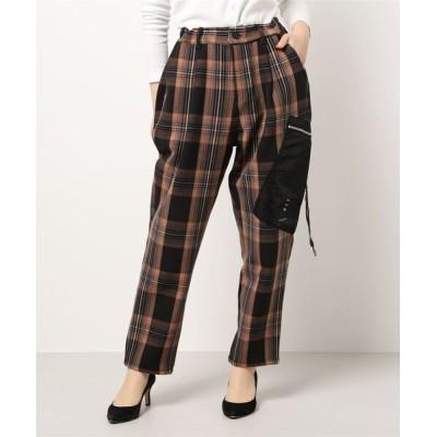 rovtski / CHECK PKT PANT/チェックポケットテーパードスラックスパンツ WOMEN パンツ > スラックス
