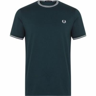 フレッドペリー Fred Perry メンズ Tシャツ トップス Twin Tipped T Shirt Petrol Blue