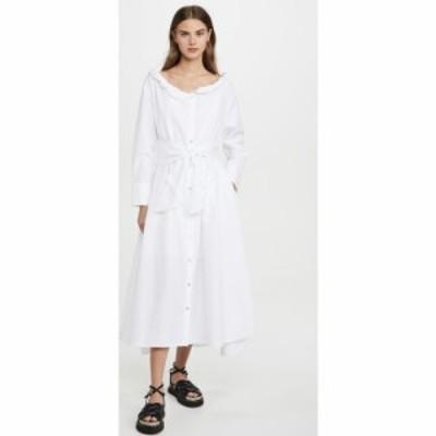 ケンゾー KENZO レディース ワンピース ワンピース・ドレス Collar Roll Up Long Dress White