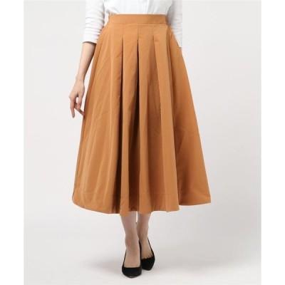 スカート ストレッチツイルロングスカート