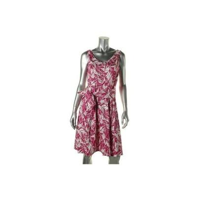 ドレス ワンピース Anne Klein Anne Klein 7282 レディース Pleated ノースリーブ Vネック カジュアル ドレス BHFO