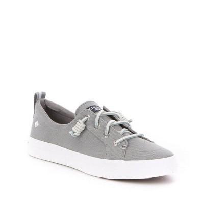 スペリー レディース スニーカー シューズ Crest Vibe Canvas Lace-Up Sneakers Grey