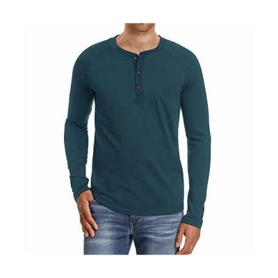 FTIMILD Tシャツ ヘンリーネック メンズ トップス リネン 半袖 ロングTシャツ 長袖 カットソー 綿 フィットネス ス