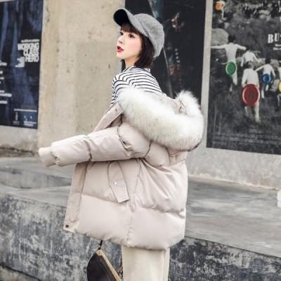 中綿コート レディース ダウン風 ジャケット 秋冬アウター フード付き キルティング 防風防寒 暖か ゆったり オシャレ 通勤通学 ふわふわ