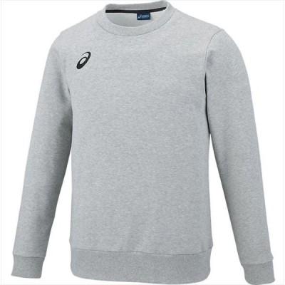[asics]アシックス トレーニングウェア スウェットクルーシャツ (2031A241)(020) ミッドグレー杢[取寄商品]