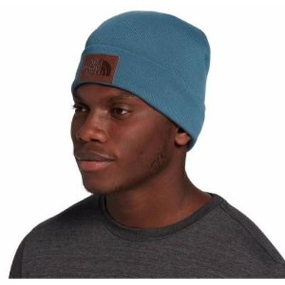 ノースフェイス メンズ 帽子 アクセサリー The North Face Men's Leather Dock Worker Recycled Beanie Mallard Blue