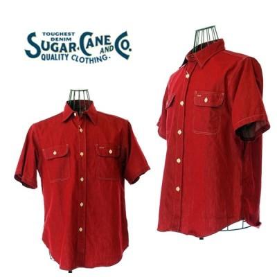 SUGAR CANE シュガーケーン  SC37943  COLORED DENIM WORK SHIRT  カラーデニム ワークシャツ 165RED 日本製