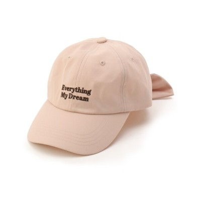 WORLD ONLINE STORE SELECT / 【ニコラ掲載商品】バックリボンくすみカラーキャップ KIDS 帽子 > キャップ