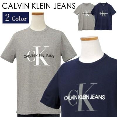 カルバンクライン Tシャツ 半袖 メンズ 2020年 新作 CKロゴ 綿100% おしゃれ ブランド クールネック Calvin Klein Jeans プレゼント #ck-41q9138