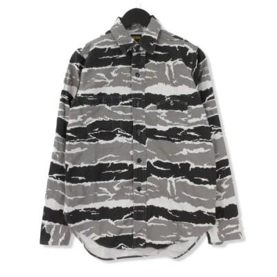 BIG YANK ビッグヤンク 長袖シャツ 迷彩  グレータイガーカモ 14.5 メンズ  中古 71000464