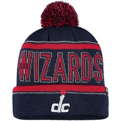 フォーティーセブン 帽子 アクセサリー レディース Washington Wizards '47 Women's Ellie Cuffed Knit Hat with Pom Navy
