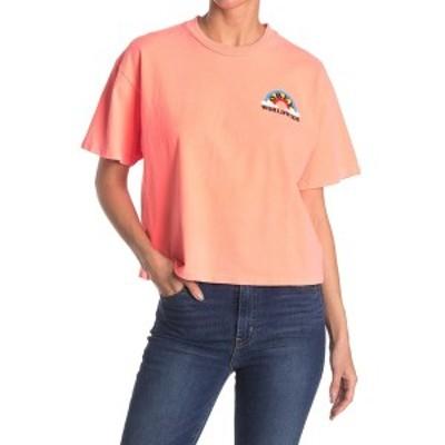 オベイ レディース Tシャツ トップス Look Don't Touch Boxy T-Shirt NEON ORANGE
