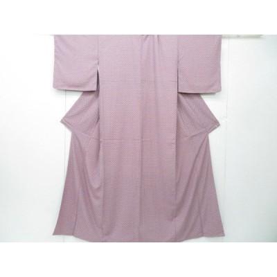 宗sou 洗える小紋 幾何学文 着物【リサイクル】【着】