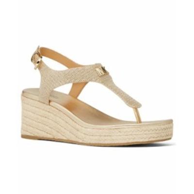 マイケルコース レディース サンダル シューズ Laney Thong Espadrille Sandals Light Gold