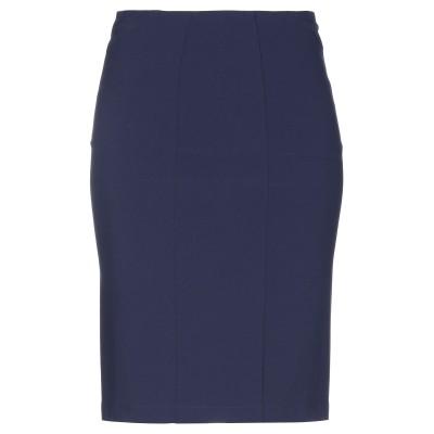パトリツィア ペペ PATRIZIA PEPE ひざ丈スカート ダークブルー 40 ポリエステル 88% / ポリウレタン 12% ひざ丈スカート