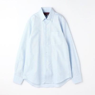 ムッシュ ニコル MONSIEUR NICOLE 【ex/tra】メランジ調カラミドビードレスシャツ (60ブルー)