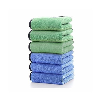 HUOYUNK 洗車タオルマイクロファイバークロス速乾性高吸水性タオル洗車職人家事掃除用