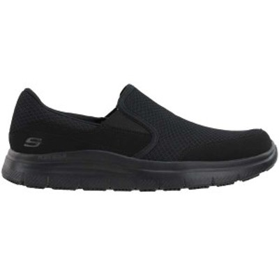 スケッチャーズ メンズ ブーツ・レインブーツ シューズ Flex Advantage McAllen Slip Resistant Work Shoes Black