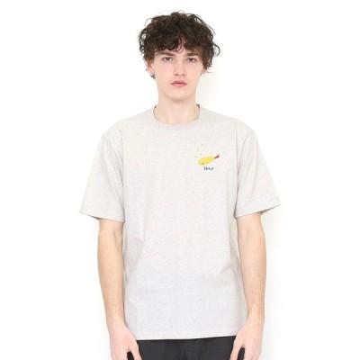 tシャツ Tシャツ フライングエビフライ|刺繍Tシャツ(ヘザーナチュラル)