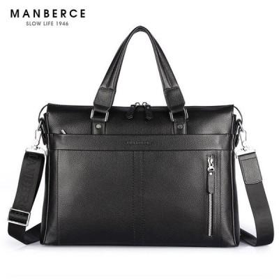 ファッション本物の革のメンズバッグ有名なブランドのショルダーバッグのメッセンジャーバッグの原因ハンドバッグ15.6インチ