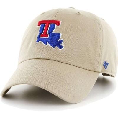 フォーティセブン 47 メンズ 帽子 Louisiana Tech Bulldogs Khaki Clean Up Adjustable Hat