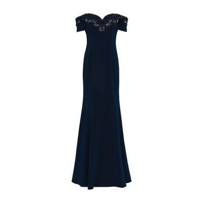 BADGLEY MISCHKA ロングワンピース&ドレス ダークブルー 2 ポリエステル 98% / ポリウレタン 2% ロングワンピース&ドレス