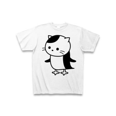 ペンギンねこ Tシャツ(ホワイト)
