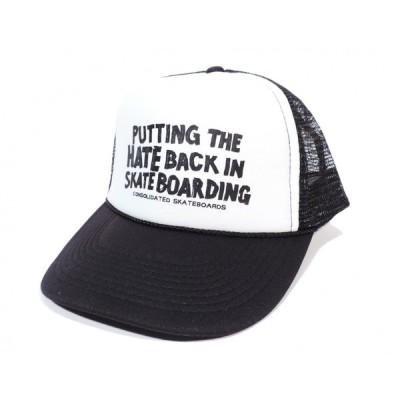 コンソリデーテッド スケートボード メッシュキャップ ブラック ホワイト コンソリ スケート CONSOLIDATED SKATEBOARDS MESH CAP BLACK WHITE