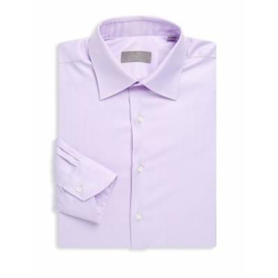 カナリ メンズ ドレスシャツ ワイシャツ Long-Sleeve Cotton Dress Shirt