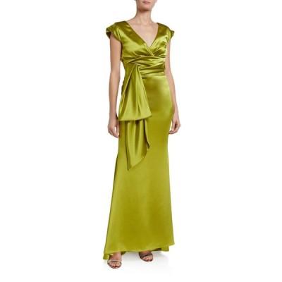 タルボールホフ レディース ワンピース トップス Shiny Crepe Satin V-Back Gown