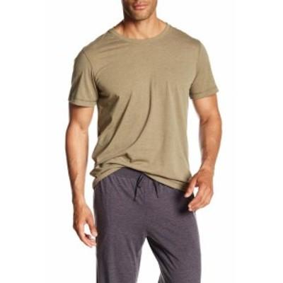 Daniel Buchler ダニエルブッフラー ファッション トップス Daniel Buchler Mens Tee Shirt Dark Army Green Size Medium M Crew