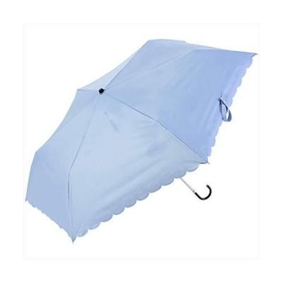 Nifty Colors(ニフティカラーズ) 折りたたみ傘 遮光ハリネズミヒートカットミニ サックス 50cm