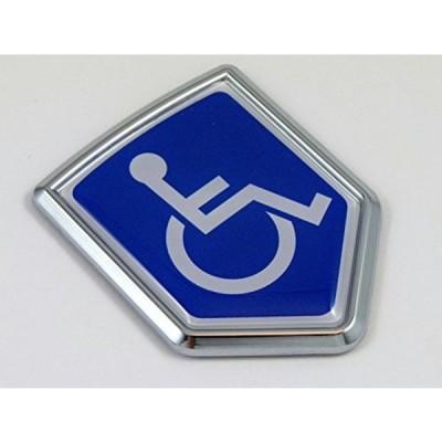 全国配送料無料!身障者用デカール車のクロム紋章ステッカー バッジ標識クレスト バイク自動車 海外正規流通品 並行輸入品