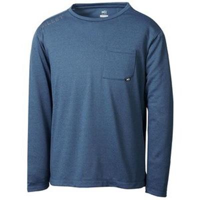 ミレー アウトドアシャツ EIRA CREW Long sleeve(アイラ クルー ロングスリーブ) Men's  M  8737(ORION BLUE)