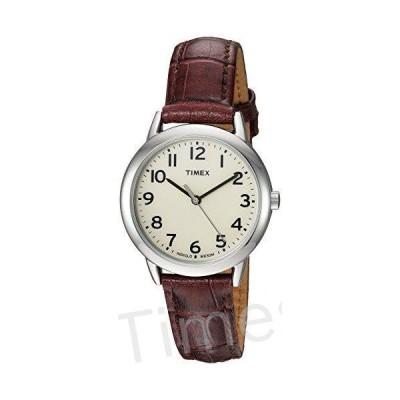 Timex Women's TW2R30300 Easy Reader 30mm Croco Pattern Brown Leather Strap