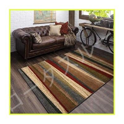 "Mohawk Home Tan New Wave Mayan Sunset Sierra Area Rug (1'8""x6') 並行輸入品"