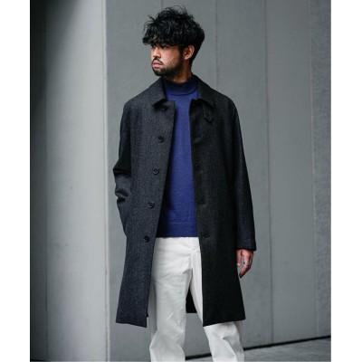 【エディフィス】 別注 DUNKELD BT ロロピアーナヘリンボーン コート メンズ グレー 34 EDIFICE