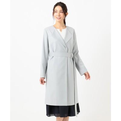 any SiS ノーカラーライトテロンチ コート (ミントグリーン)