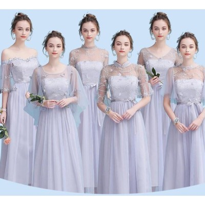 人気 可愛いウェディングドレス パーティードレス ロング丈 披露宴 結婚式 花嫁  二次会 着痩せ 素敵 奇麗 ワンピース 大きいサイズ  演奏会