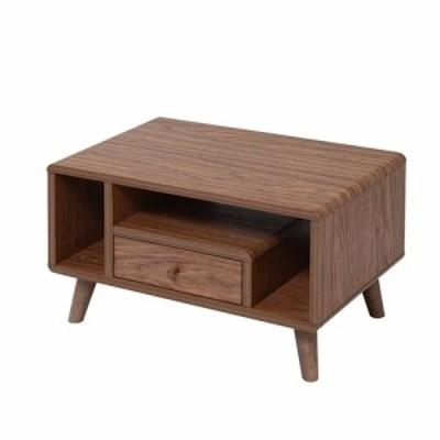 ローテーブルテーブル幅60コンパクトミニテーブルリビングテーブル FAP-0013-BR ブラウン
