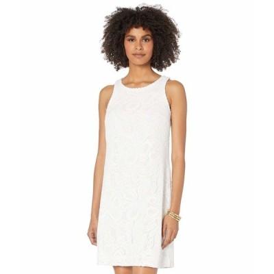 リリーピュリッツァー ワンピース トップス レディース Marquette Shift Dress Resort White Wildflower Stripe Lace