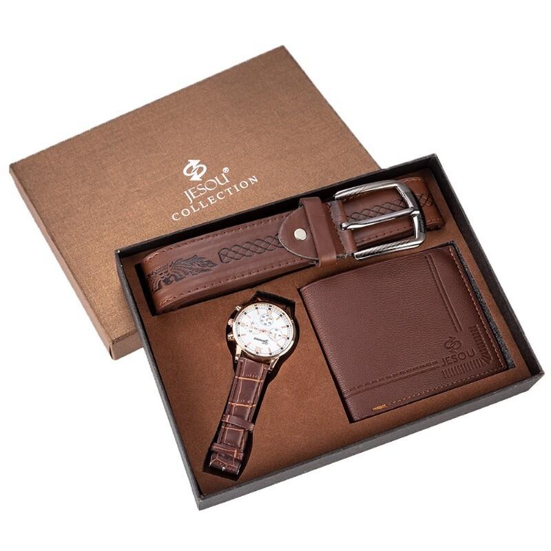 男仕歐美風手錶皮夾精品禮盒(3件組)m2770alex shop