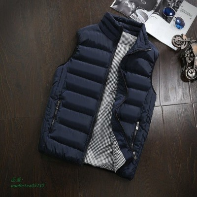 5XL カジュアル メンズ ジャケット ベスト ノースリーブ 冬 ファッション 暖かい コート スリム ブランド服綿が詰め 男性 ベストオム新 AliExpress グループ