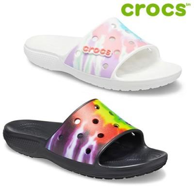 送料無料 CROCS サンダル Classic Tie Dye Graphic slide 206520: 正規品/クロックス/メンズ/レディース/ユニセックス/cat-fs