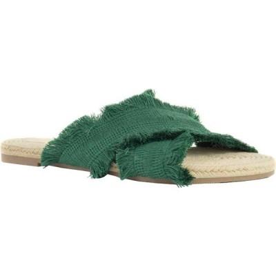 クレボ レディース サンダル シューズ Monroe Slide Sandal Green Frayed Fabric