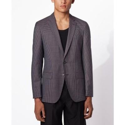 ヒューゴボス メンズ ジャケット&ブルゾン アウター BOSS Men's Hartlay2 Slim-Fit Jacket Dark Pink