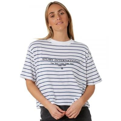 ステューシー Stussy レディース Tシャツ トップス holt boxy tee Striped